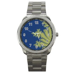 Blue And Green Design Sport Metal Watches by theunrulyartist
