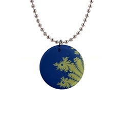 Blue And Green Design Button Necklaces by theunrulyartist