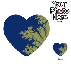 Blue And Green Design Multi Purpose Cards (heart)  by theunrulyartist