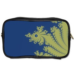 Blue And Green Design Toiletries Bags by digitaldivadesigns