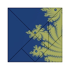Blue And Green Design Acrylic Tangram Puzzle (6  X 6 ) by theunrulyartist