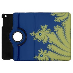 Blue And Green Design Apple Ipad Mini Flip 360 Case by theunrulyartist