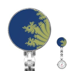 Blue And Green Design Stainless Steel Nurses Watches by theunrulyartist