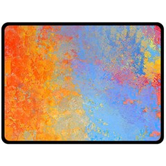 Hot And Cold Double Sided Fleece Blanket (large)  by theunrulyartist