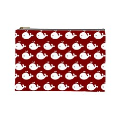 Cute Whale Illustration Pattern Cosmetic Bag (large)  by creativemom