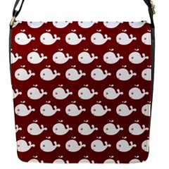 Cute Whale Illustration Pattern Flap Messenger Bag (s) by creativemom