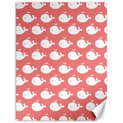 Cute Whale Illustration Pattern Canvas 18  x 24   by creativemom