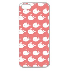 Cute Whale Illustration Pattern Apple Seamless Iphone 5 Case (clear) by creativemom