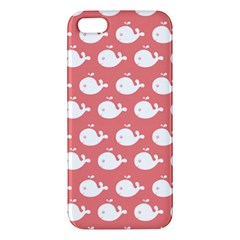 Cute Whale Illustration Pattern Iphone 5s Premium Hardshell Case by creativemom
