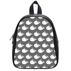 Cute Whale Illustration Pattern School Bags (small)  by creativemom