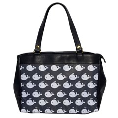 Cute Whale Illustration Pattern Office Handbags by creativemom
