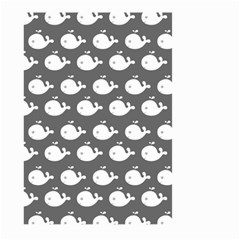 Cute Whale Illustration Pattern Large Garden Flag (two Sides) by creativemom