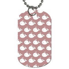 Cute Whale Illustration Pattern Dog Tag (two Sides) by creativemom