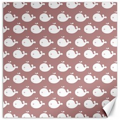 Cute Whale Illustration Pattern Canvas 12  X 12   by creativemom