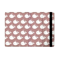 Cute Whale Illustration Pattern Apple Ipad Mini Flip Case by creativemom