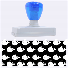 Cute Whale Illustration Pattern Rubber Address Stamps (xl)