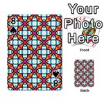 Cute Pattern Gifts Playing Cards 54 Designs  Front - Spade8