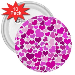Heart 2014 0931 3  Buttons (10 pack)  by JAMFoto