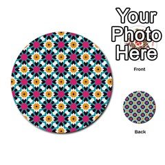 Cute Pattern Gifts Multi Purpose Cards (round)