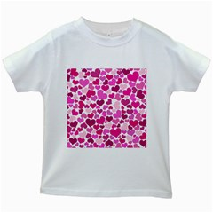 Heart 2014 0932 Kids White T Shirts