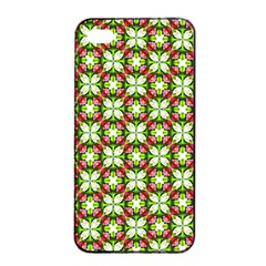 Cute Pattern Gifts Apple Iphone 4/4s Seamless Case (black) by creativemom