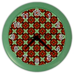 Cute Pattern Gifts Color Wall Clocks by creativemom