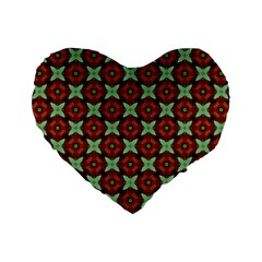 Cute Pattern Gifts Standard 16  Premium Flano Heart Shape Cushions by creativemom