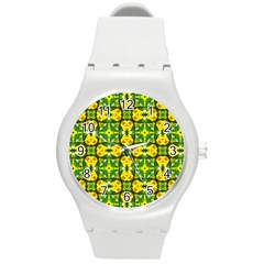 Cute Pattern Gifts Round Plastic Sport Watch (m) by creativemom