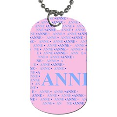 Anne Dog Tag (two Sides) by MoreColorsinLife