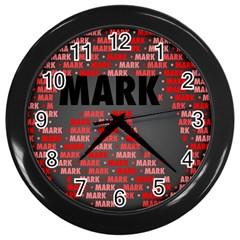 Mark Wall Clocks (black) by MoreColorsinLife