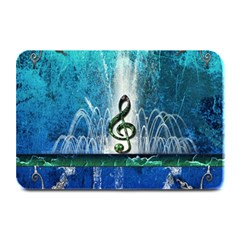 Clef With Water Splash And Floral Elements Plate Mats by FantasyWorld7