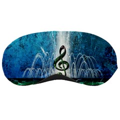 Clef With Water Splash And Floral Elements Sleeping Masks by FantasyWorld7