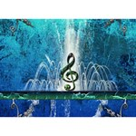 Clef With Water Splash And Floral Elements You Did It 3D Greeting Card (7x5) Back