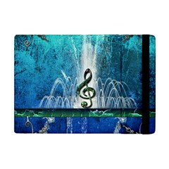 Clef With Water Splash And Floral Elements Apple Ipad Mini Flip Case by FantasyWorld7