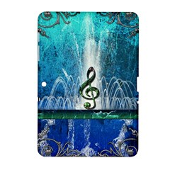 Clef With Water Splash And Floral Elements Samsung Galaxy Tab 2 (10 1 ) P5100 Hardshell Case  by FantasyWorld7