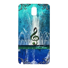 Clef With Water Splash And Floral Elements Samsung Galaxy Note 3 N9005 Hardshell Back Case