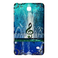 Clef With Water Splash And Floral Elements Samsung Galaxy Tab 4 (7 ) Hardshell Case  by FantasyWorld7