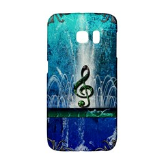 Clef With Water Splash And Floral Elements Galaxy S6 Edge by FantasyWorld7