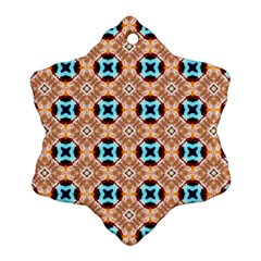 Cute Pattern Gifts Snowflake Ornament (2-Side) by creativemom