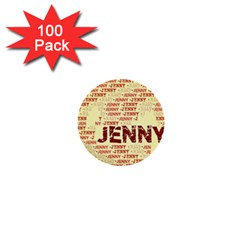 Jenny 1  Mini Buttons (100 Pack)  by MoreColorsinLife