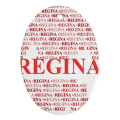 Regina Ornament (oval)  by MoreColorsinLife
