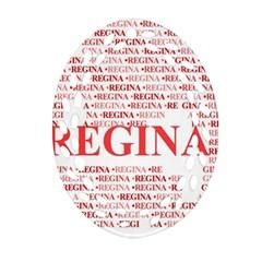 Regina Oval Filigree Ornament (2 Side)  by MoreColorsinLife