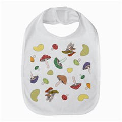 Mushrooms Pattern 02 Bib by Famous
