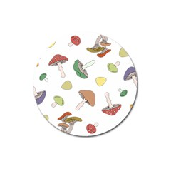 Mushrooms Pattern 02 Magnet 3  (round) by Famous