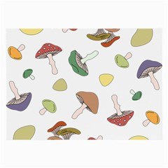 Mushrooms Pattern 02 Large Glasses Cloth by Famous