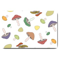 Mushrooms Pattern 02 Large Doormat  by Famous