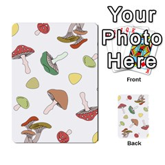 Mushrooms Pattern 02 Multi Purpose Cards (rectangle)  by Famous