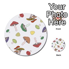 Mushrooms Pattern 02 Multi Purpose Cards (round)  by Famous