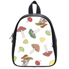 Mushrooms Pattern 02 School Bags (small)  by Famous