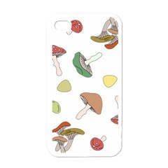 Mushrooms Pattern 02 Apple Iphone 4 Case (white) by Famous